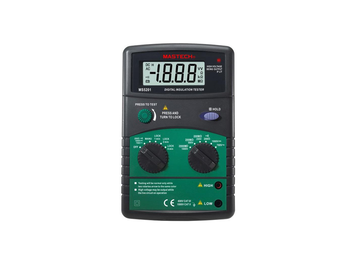 Mastech MS 5201 Digital Insulation Tester
